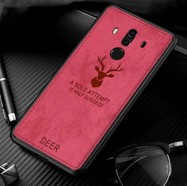 قاب گوزنی طرح پارچه هواوی Silicone Cloth Pattern Deer Case Huawei Mate 10 Pro