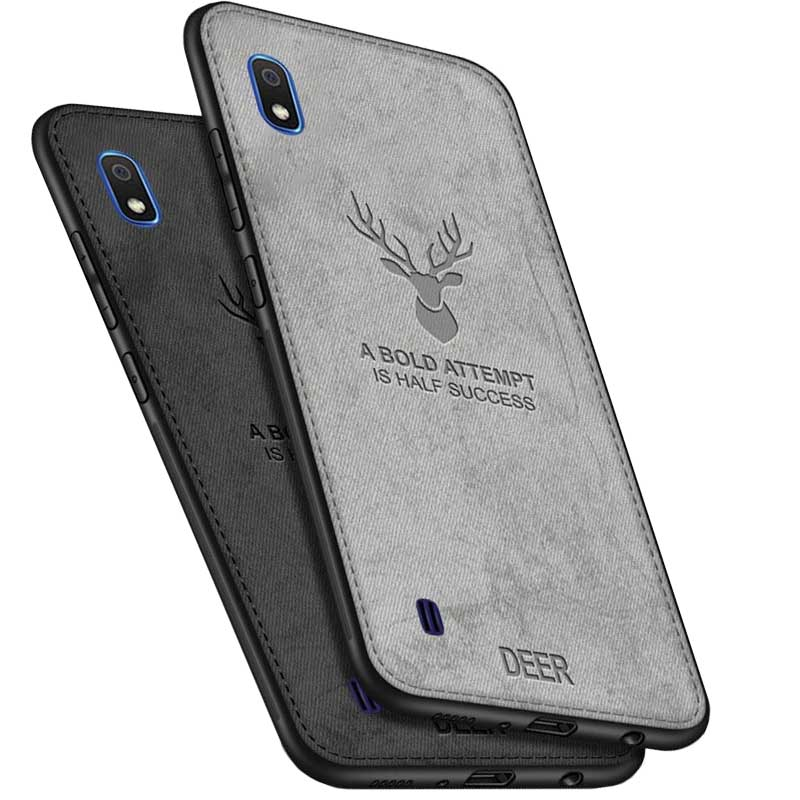 قاب گوزنی سامسونگ Cloth Pattern ShockProof Deer Case Galaxy A10