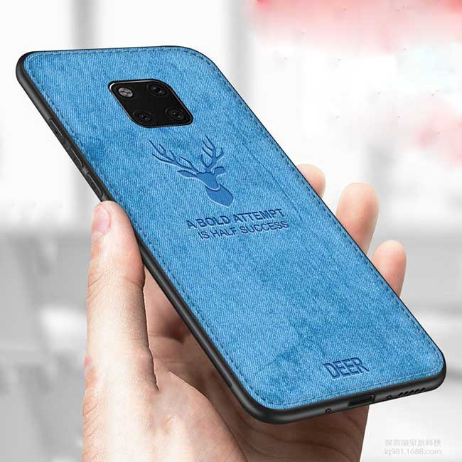 قاب محافظ گوزنی هواوی Silicone Cloth Pattern Deer Case  Huawei Mate 20 pro